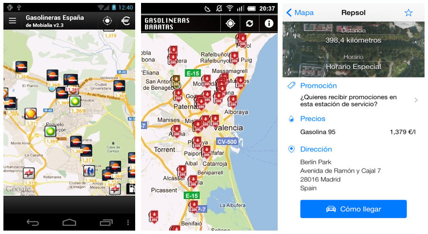 Apps móviles para ahorro combustible